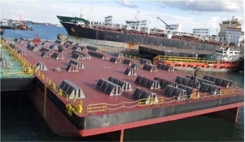 316 ft x 120 ft x 20 ft Dumb Barge