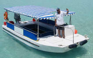 6.2 m 40HP Aluminium Glass Bottom Boat