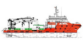 78.00 m DP2 Offshore Support / Maintenance Vessel