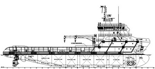 75 m 6000HP FiFi 1 DP2 Platform Supply Vessel